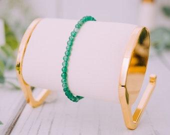 Raw Aventurine Bracelet for Women & Men - Beaded Aventurine Bracelets - Natural Tumbled Aventurine Bracelet - 4mm Stretchable Bracelet
