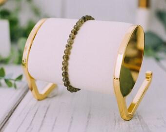 Raw Smoky Quartz Bracelet for Women & Men - Beaded Smokey Quartz Bracelets - Natural Tumbled Smokey Quartz Bracelet - 9mm Stretchable