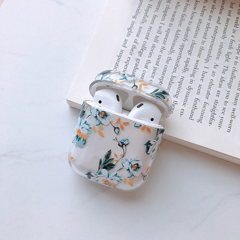 Airpods Protective Floral transparent cover to fit Apple image 0