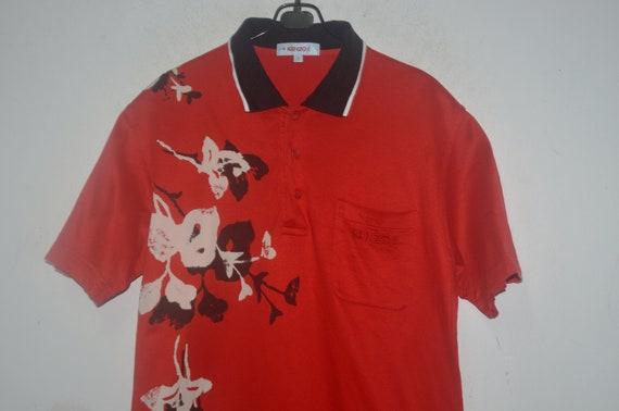 Vintage Kenzo Floral Polo Shirt