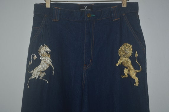 Giovanni Valentino Jeans Golden Embroidered Logo