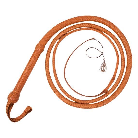 Genuine Real Leather 08 Feet Long 12 Plait Weaving Bull Whip Farming equestrian
