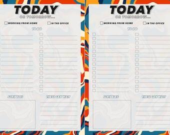Printable to-do list, digital to-do list, digital desk pad, printable list pad