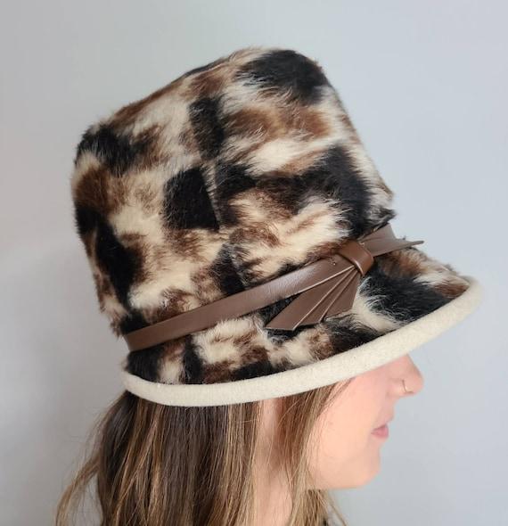Original Mr. Joseph's Leopard Print  Wool Felt Hat