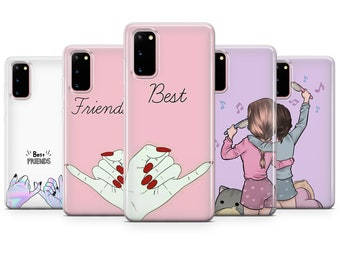 P30 Pro 7 11 A10 Huawei P20 XS Samsung galaxy S20 Plus P9 S10 Girl Clear Case for iPhone 12 Pro Max XR Best Friend Gift 8+