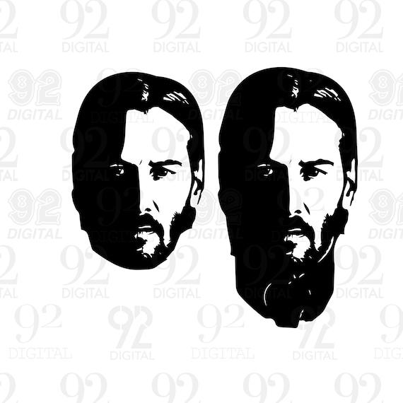 John Wick Keanu Reeves Vector Art Package Png Jpg Svg Dwg Etsy