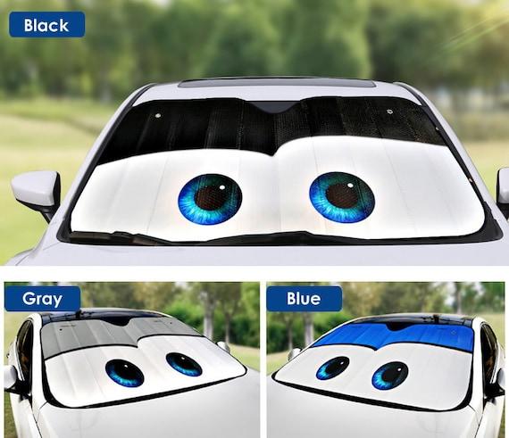 Car Sun Visor Sun Shade Windscreen Parasol Cute Blue Stitch Baby Windscreen Cover for Front Windscreen White 130 x 70 cm