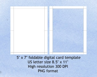 5X7 Folded Card Template For Word from i.etsystatic.com
