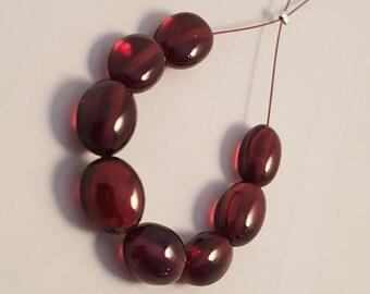 AAA Garnet Oval Shape Smooth Beads 6x8-7x9 mm Mozambique Garnet Beads Oval Garnet Beads Garnet Smooth Beads Garnet Beads strand Christmas