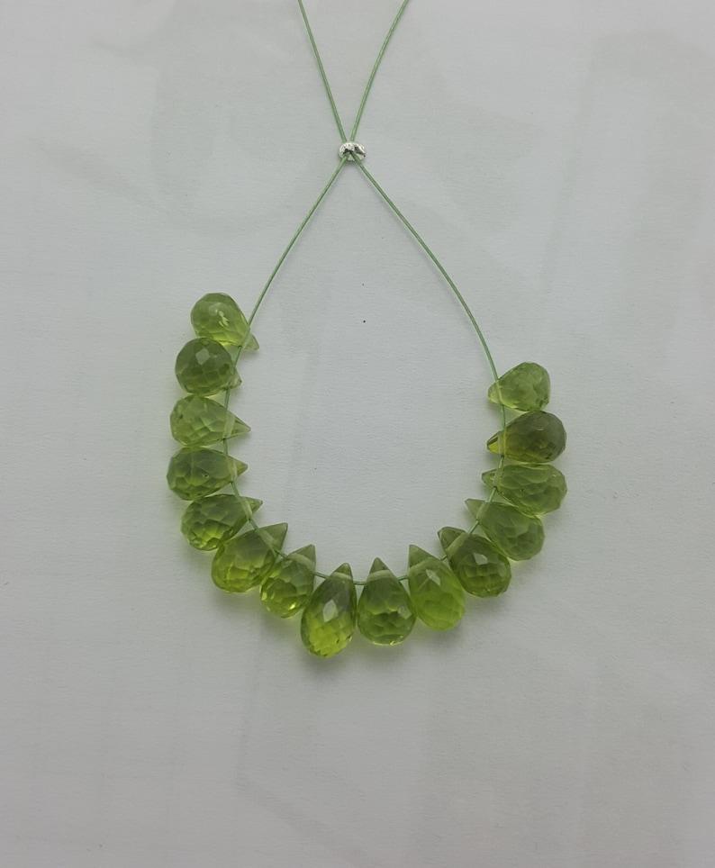 14.45 Carats Beautiful Peridot Facetated Teardrop Beads100/% NaturalFine Quality4X6MMLoose Gemstone Beads