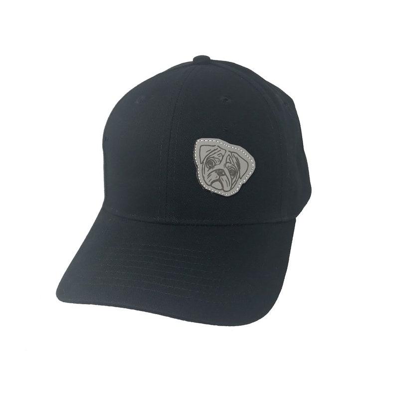 BlackGrey Pug Gifts Heavy Cotton Baseball Cap