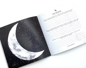 Moon Journal Moonshine Moments Moon Notebook 21x21cm Journal Magazine