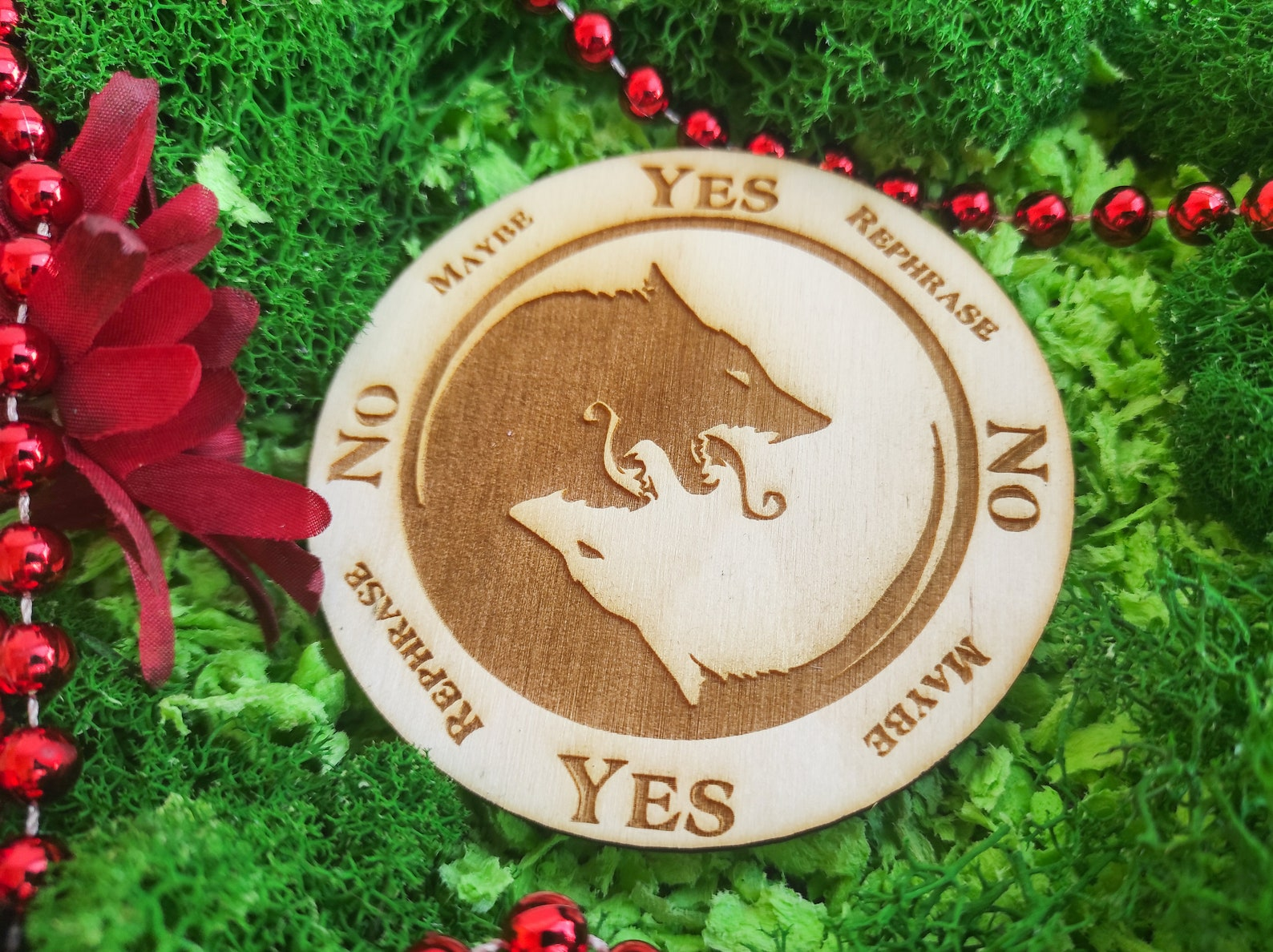 yin yang wolf pendulum board for answers witchcraft  etsy