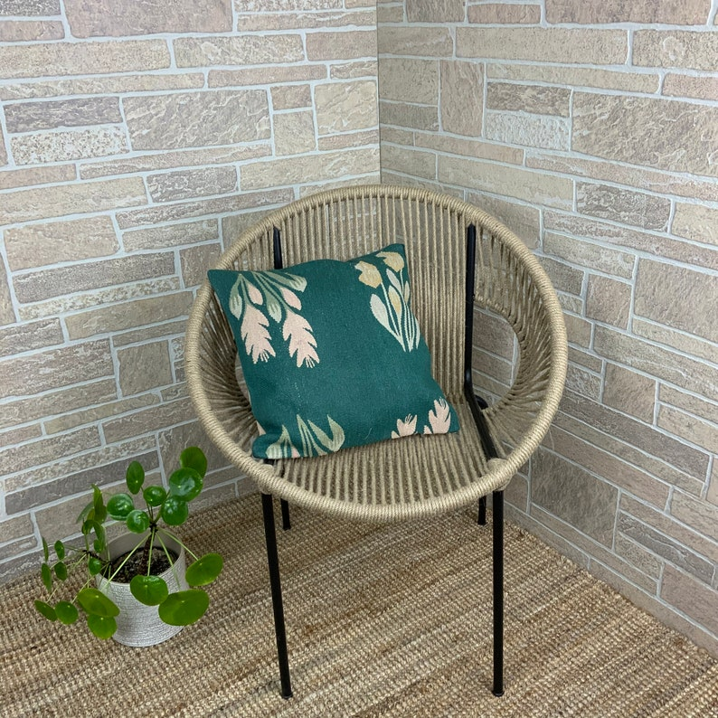 Boho Kilim Throw Pillow 16x16 inches Knitted Floor Pillow Needlepoint Euro Sham Pillow for Boho Decor Decorative Wool Custom Pillow