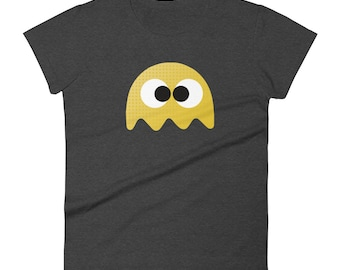 Ladies T-Shirt: Yellow Ghost from Pac-Man