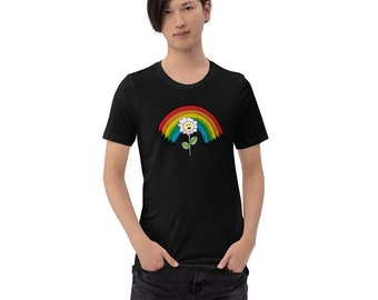 Rainbow Flower Unisex Tee