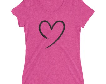 Ladies T-Shirt with Open Heart