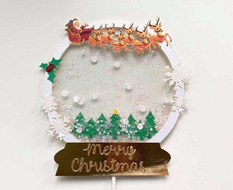 Digital Snow Globe File SVG Shaker Cake Topper SVG ONLY snow image 1