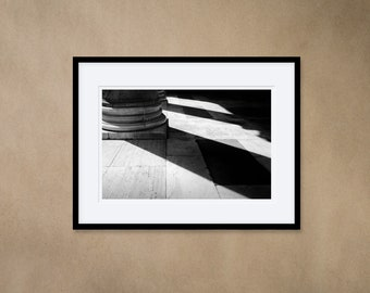 1 Framed Photography 30 x 40 cm - Columns of the Pantheon, Rome, Italy - Silver Gelatin Print - Analog Photography
