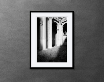 1 Framed Photography 30 x 40 cm - Light and Shadow - Silver Gelatin Print - Analog Photography