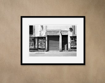 1 Framed Photography 30 x 40 cm - Shop in Florence, Italy - Silver Gelatin Print - Analog Photography