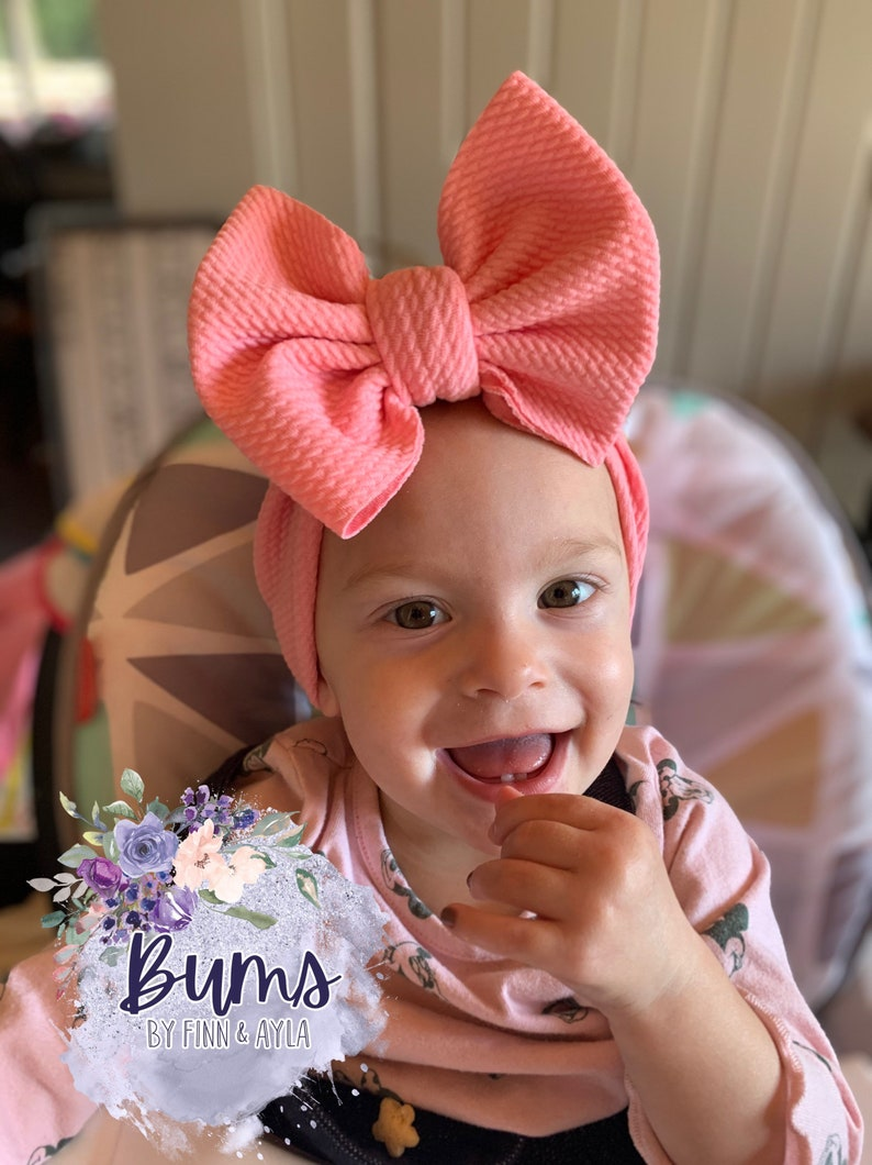 Pink Bow Headwrap headwrap for babies and toddlers