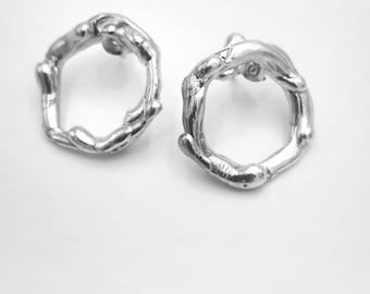 Earrings from the Matter collection in 925 silver