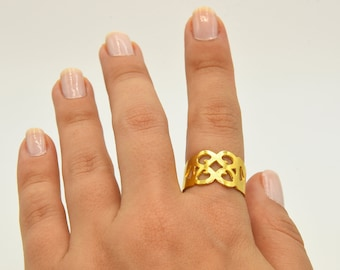 Jewelry Ring ARG056 Gold Plated Ring Brass Ring Findings Wholesale Ring Raw Brass Ring 24k Shiny Gold Plated Adjustable Blank Ring