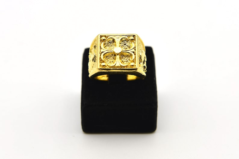 Brass Bezel Ring Gold Plated Rings Brass Findings Wholesale Rings Mountings 24K Shiny Gold Plated Adjustable Domed Ring