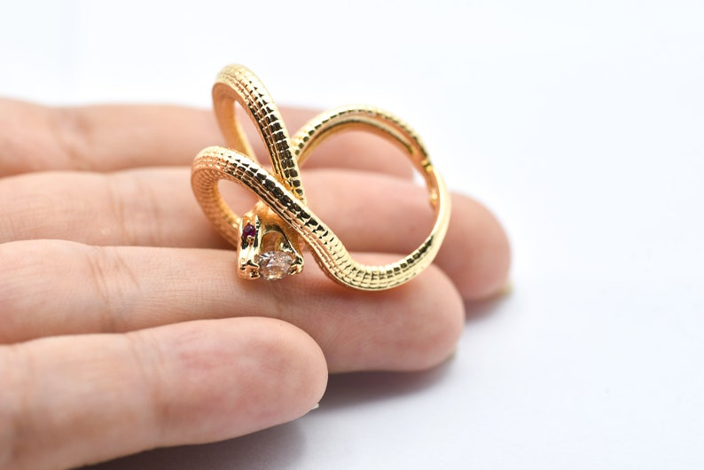 Gift Rings Gold Plated Open Snake Ring Minimalist Ring Dainty Ring Adjustable Animal Ring Wholesale Gold Plated Long Snake Ring