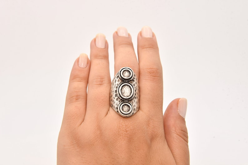 ARS024 Silver Plated Ring Wholesale Ring Brass Ring Findings Jewelry Ring Brass Ring Silver Plated Adjustable Bezel Ring Blank Ring