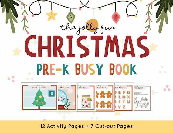 Christmas Busy Book Christmas Activity Printable Preschool