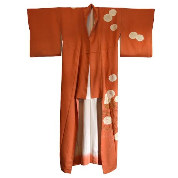 Vintage Japanese Kimono - Long Kimono - Ladies Kim