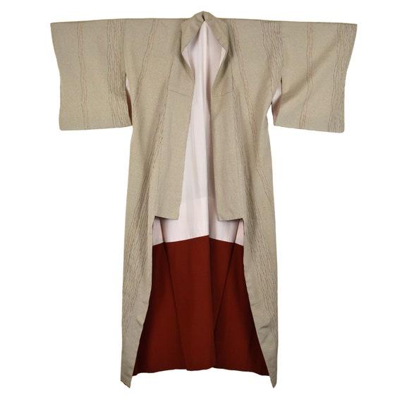 Vintage Japanese Kimono - Long Kimono - Unisex Kim