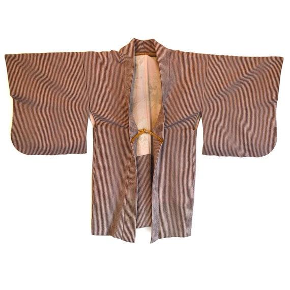 Haori - Vintage Japanese Kimono - Short Kimono - … - image 1