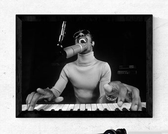Stevie Wonder Canvas Poster Room Decoration Wall Paiting Pictures Unframed