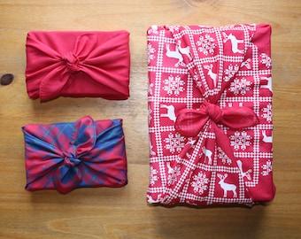 Furoshiki fabric wrap 80cm /& 55cm 3 pack