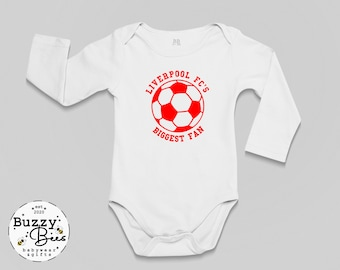 Personalised Football Bodysuit EVERTON'S No1 DRIBBLER JUST LIKE MY DADDY