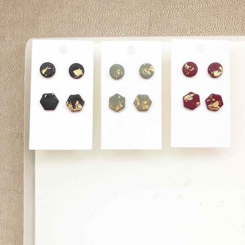 Stylish Gold Leaf Stud Earrings set of 2