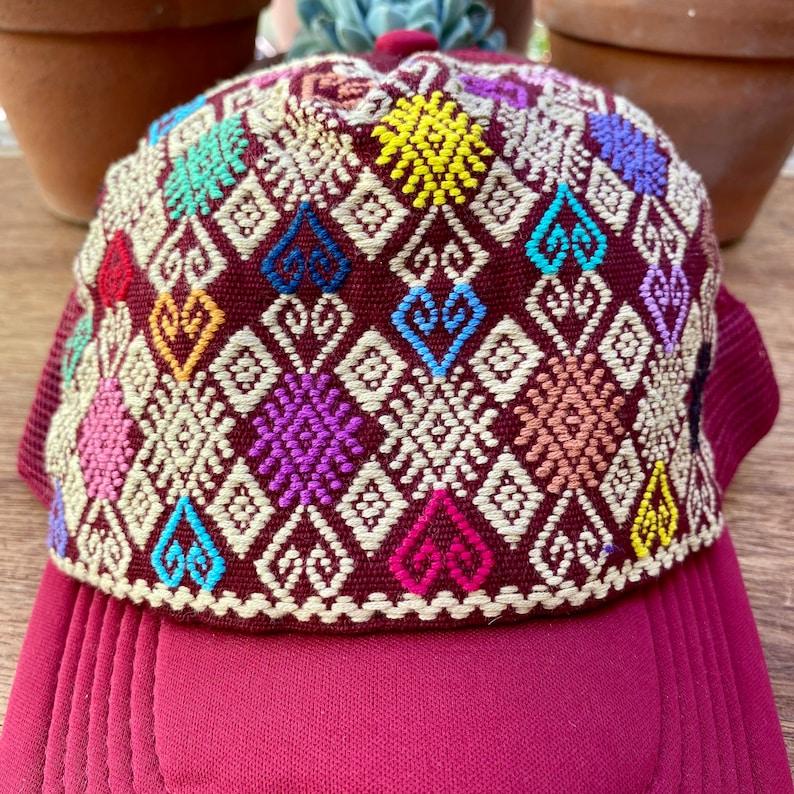 Colorful  cap Mexican gift Unique Piece Embroidered Cap Handmade design cap Colourful Embroidered cap Mexican Art Mexican craft