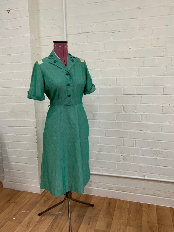 Vintage 1940s 1940s US Girl Scout Uniform Dress Ch