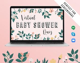 Gender Neutral Modern Shower Games Sloth Baby Shower Quiz Virtual Baby Shower Activities Powerpoint Shower Virtual Emoji Pictionary