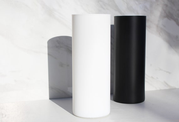 Shop Modern Matte Glass Cylinder Vase  Mid Century Modern Matte from Etsy on Openhaus