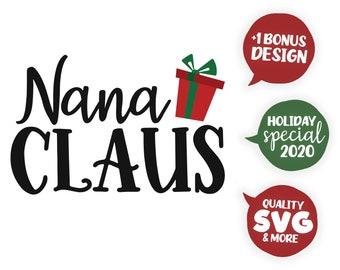 View Grandma Claus Nana Claus Christmas Svg And Dxf Cut File Ò Png Ò Download File Ò Cricut Ò Silhouette Design