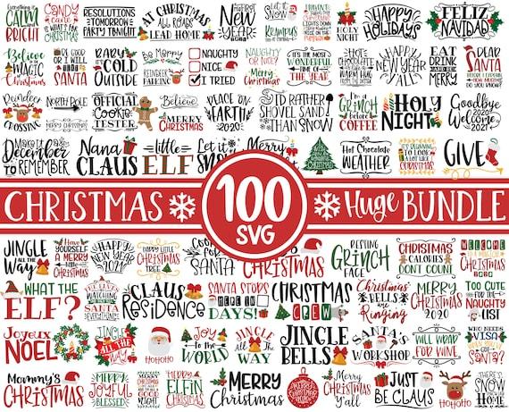 100 Christmas SVG Bundle • Winter svg • Santa SVG • Holiday • Merry Christmas • Christmas Bundle • Funny Christmas Shirt Design • Cricut