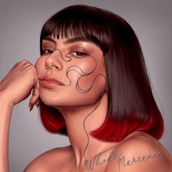 Custom Digital Portrait  detailed portrait  Gift  illustration  custom digital portrait art from photo  Profile logo