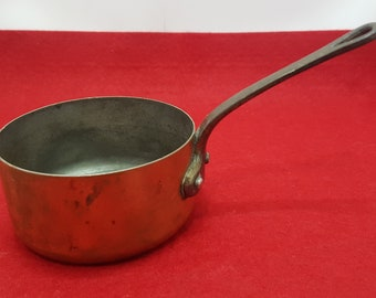 Vintage Tupperware Copper Pan with a wrought Iron handle Tupperware Copper Pan
