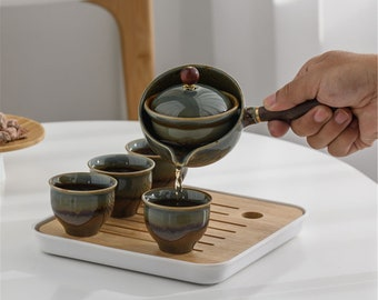 Leku Bamboo Tea Set Six Sets Of Natural Tea Ceremony Trumpet New Kung Fu Tea Set Accessories Tea Bucket