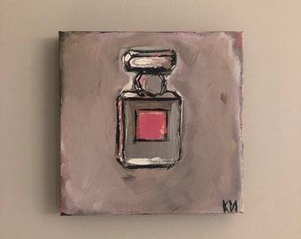 Designer Perfume Bottle Original Painting, 12 x 12