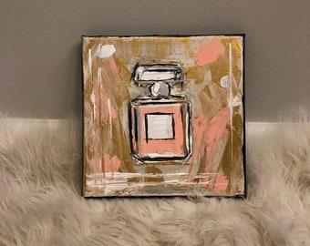 Perfume Bottle Painting 8 x 8